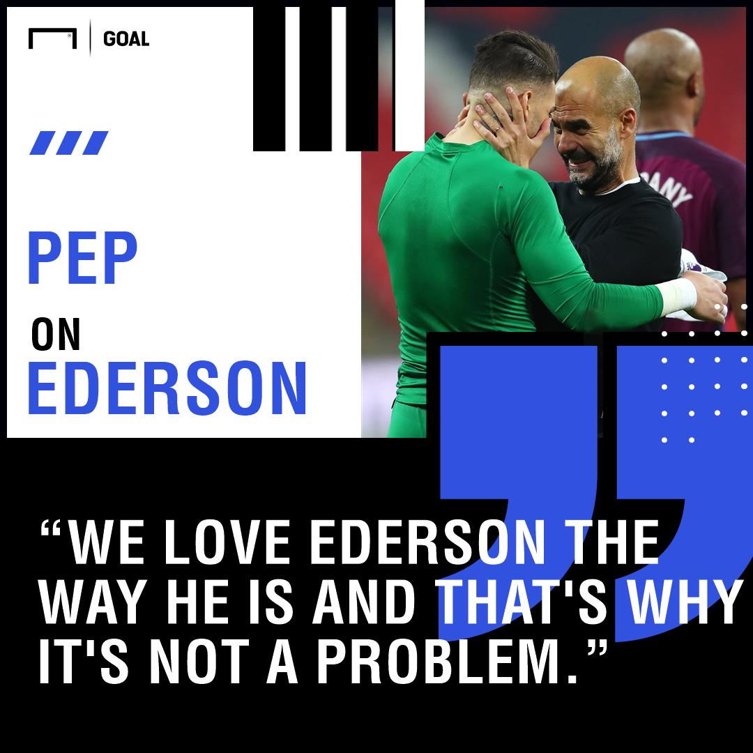 Ederson Pep Guardiola Manchester City PS