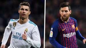 Ronaldo Real Madrid Lionel Messi Barcelona