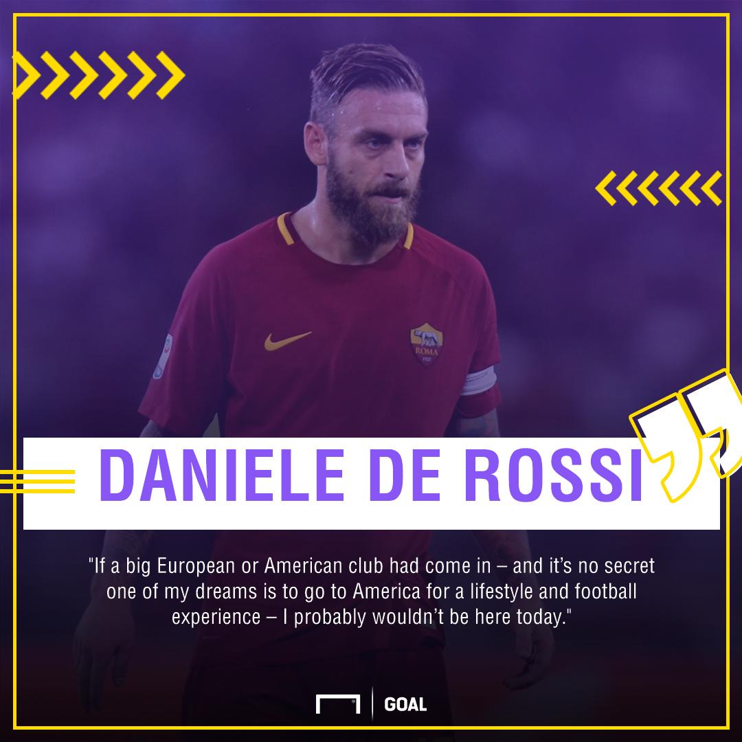 Daniele De Rossi Roma MLS exit