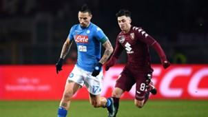 Marek Hamsik Daniele Baselli Torino Napoli Serie A 12162017