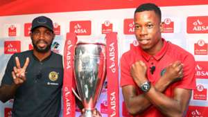 Ramahlwe Mphahlele of Kaizer Chiefs with Happy Jele of Orlando Pirates