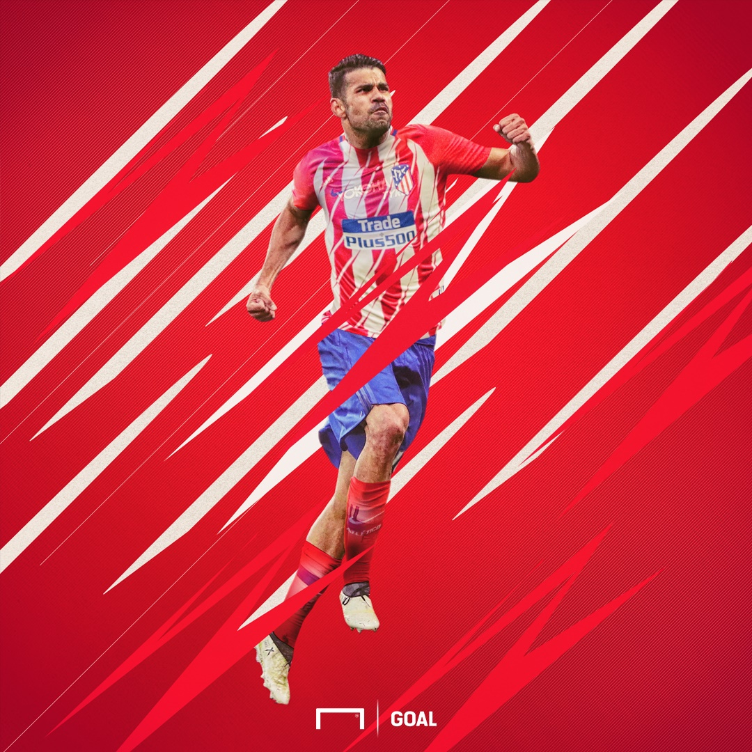 GFX Diego Costa Atletico Madrid Shirt Burst