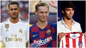 GFXID Transfer La Liga - Eden Hazard, Frenkie De Jong, Joao Felix