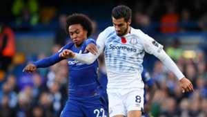 Willian Andre Gomes Chelsea vs Everton Premier League 2018-19
