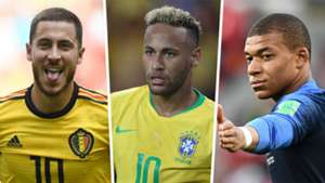 Eden Hazard Neymar Kylian Mbappe