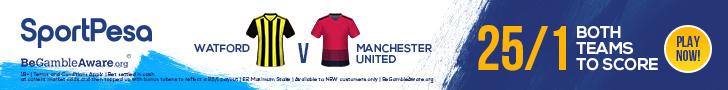 Watford v United BTTS SportPesa offer