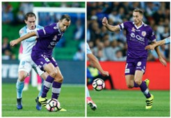 Richard Garcia Rostyn Griffiths Melbourne City v Perth Glory A-League 23042017