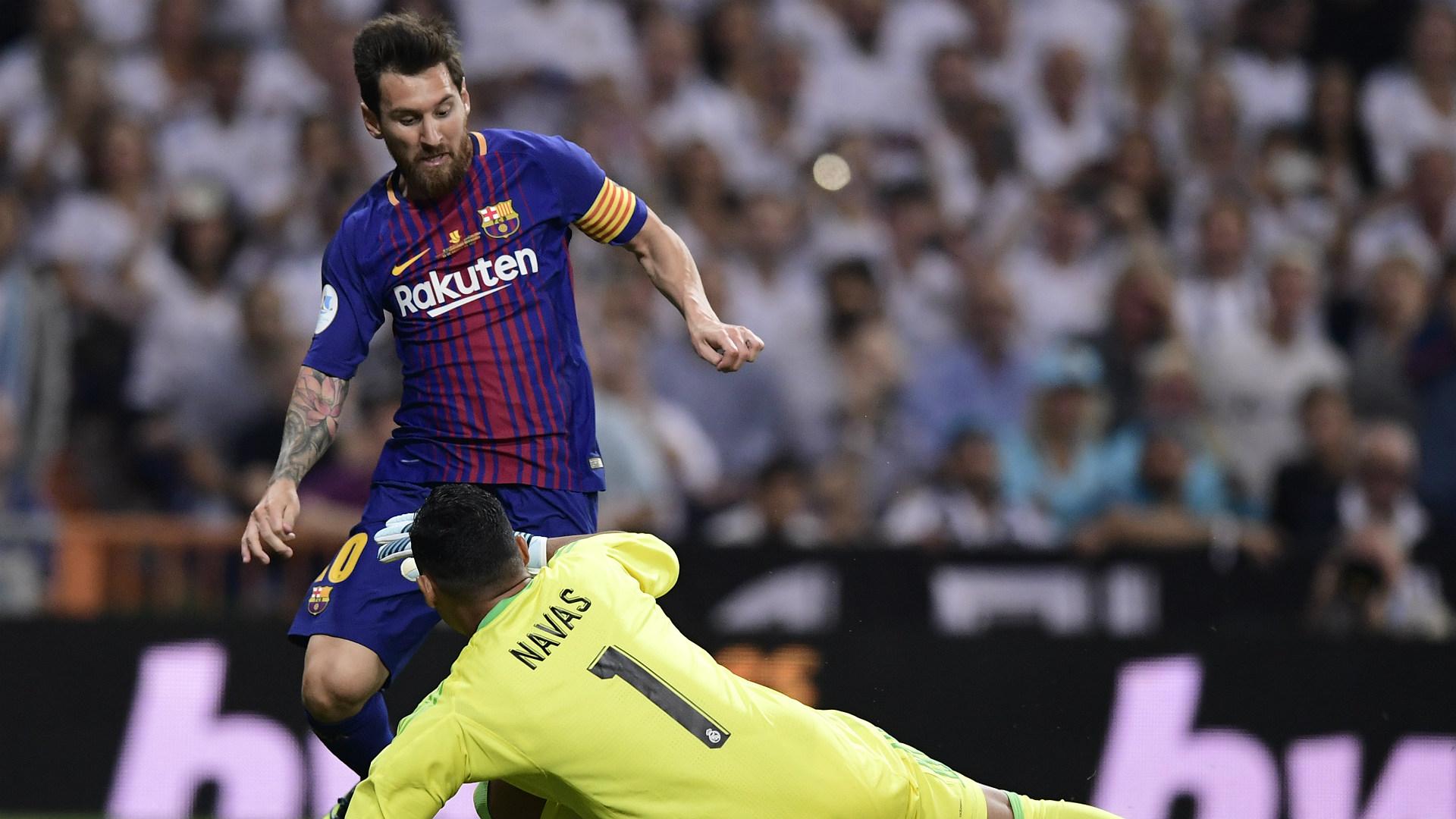 Keylor Navas Lionel Messi Real Madrid Barcelona Supercopa 16082017