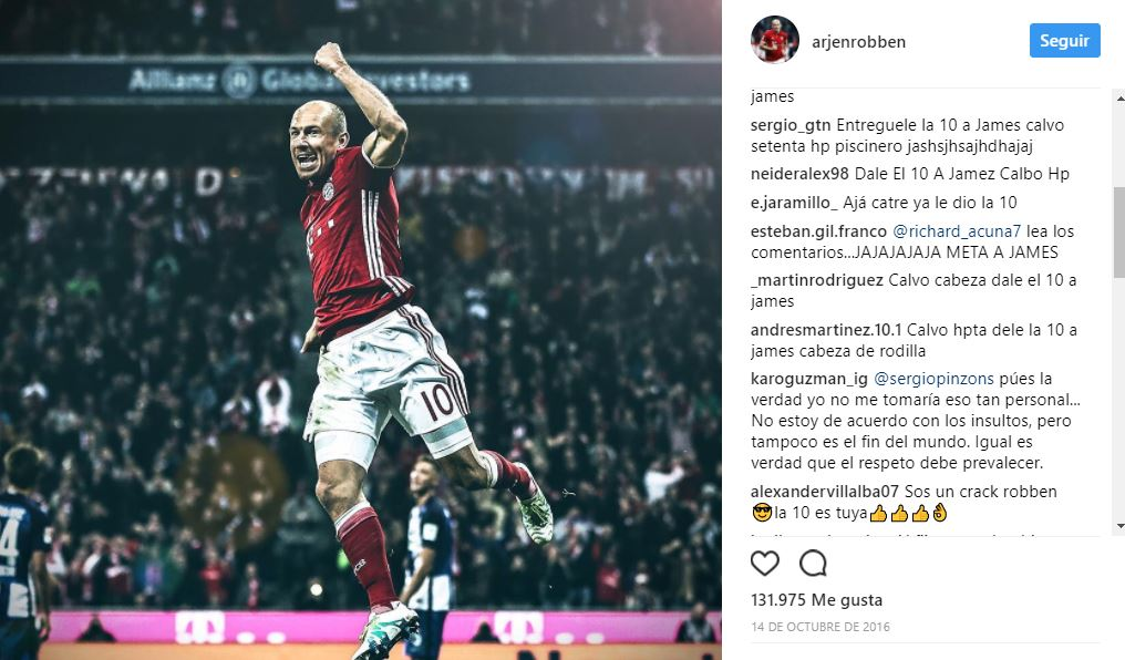 Captura Instagram Robben