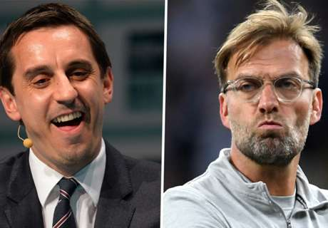 Neville mocks Liverpool with his own 'Allez' chant