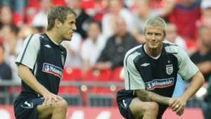 Phil Neville David Beckham
