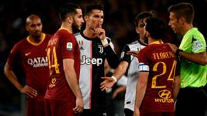 Florenzi Ronaldo Roma juventus