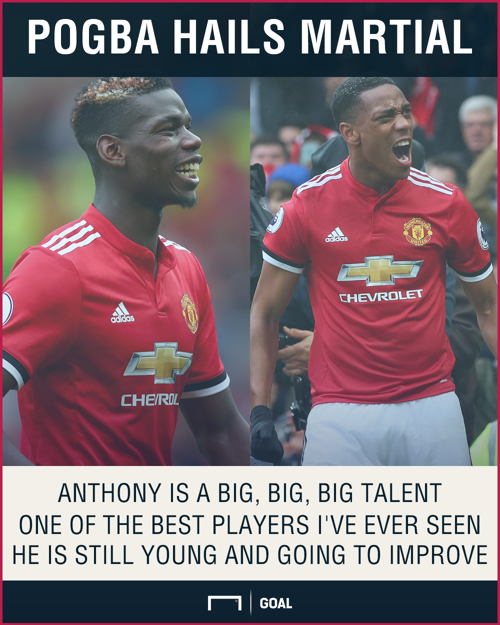 Paul Pogba Anthony Martial Manchester United one of the best