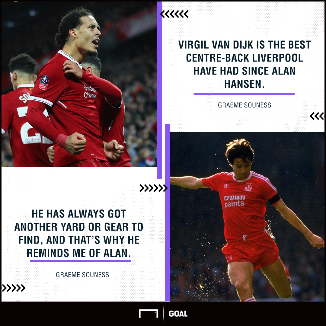 Virgil van Dijk Liverpool's best since Alan Hansen