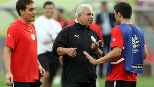 Anibal Mano Ruiz Roberto Acuna Carlos Gamarra Paraguay