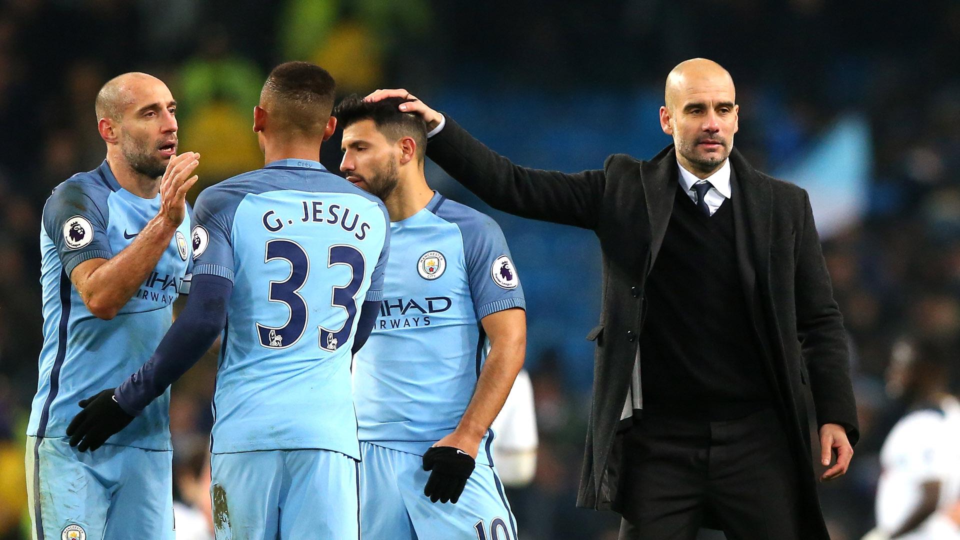 Pep Guardiola Gabriel Jesus Manchester City Premier League