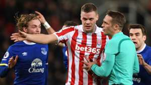 Ryan Shawcross Stoke City referee Craig Pawson 01022016