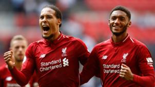 Virgil Van Dijk Joe Gomez Liverpool 2018-19