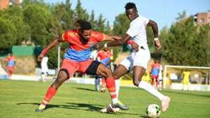 Michael Olunga of Kenya Harambee Stars v DR Congo.