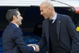 Ernesto Valverde Zinedine Zidane Real Madrid Barcelona El Clásico LaLiga 23122017