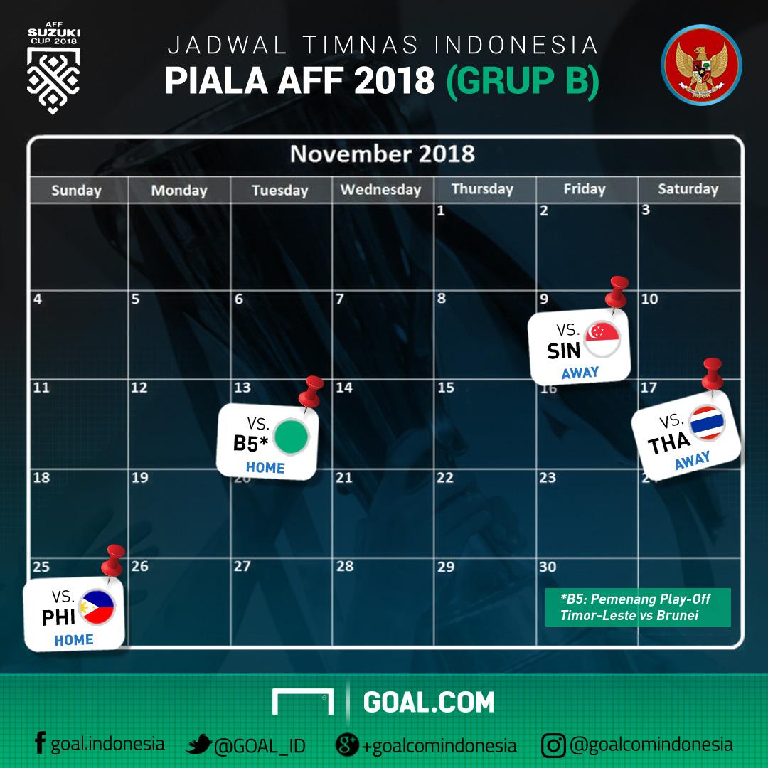 Ini Jadwal Timnas Indonesia Di Piala AFF 2018 | Goal.com