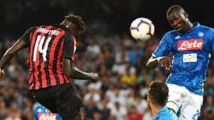Tiemoue Bakayoko AC Milan Kalidou Koulibaly Napoli