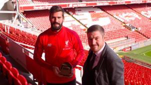 GOAL 50   Alisson and Neil Jones, Liverpool
