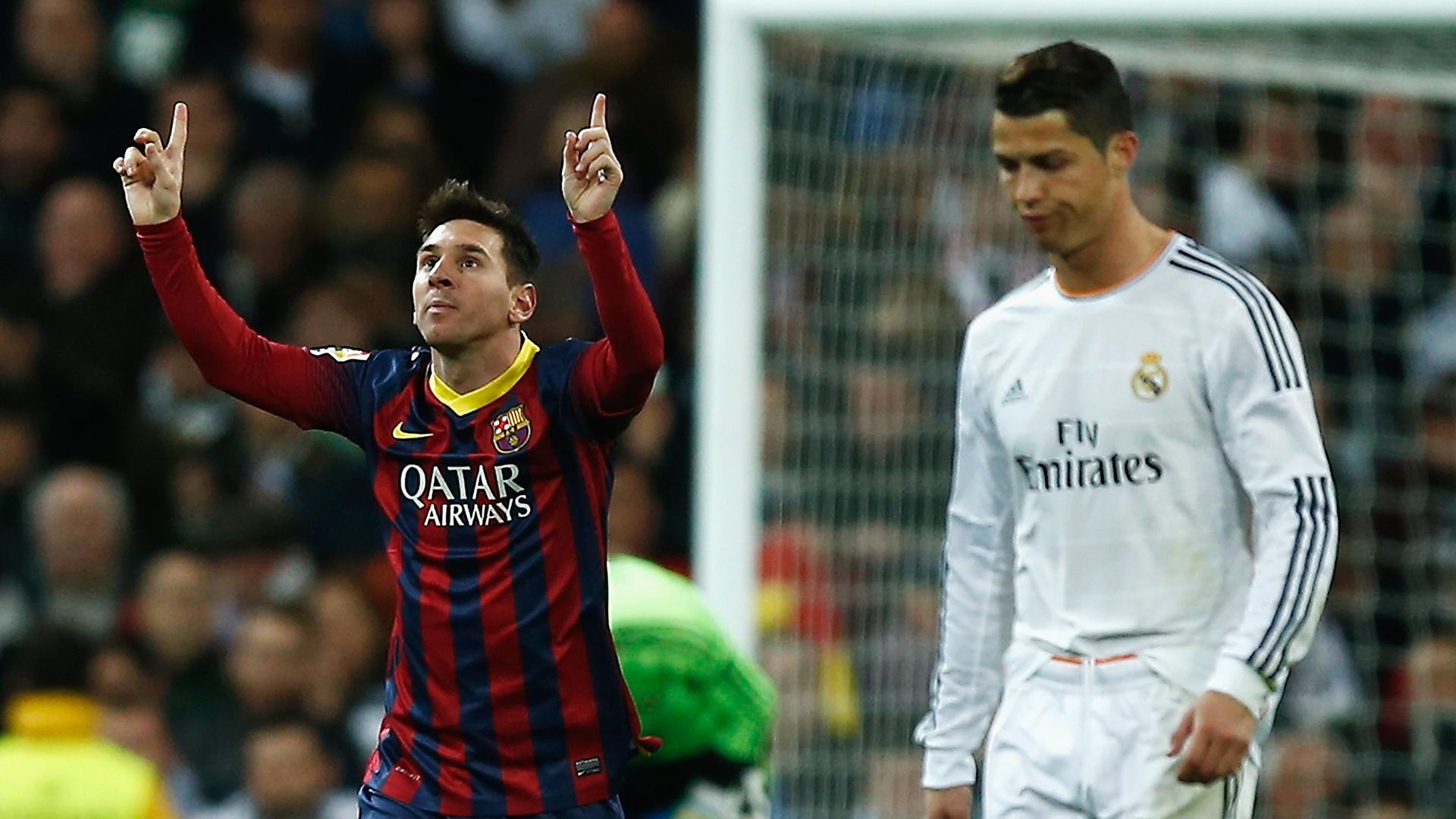 Cristiano Ronaldo Lionel Messi Real Madrid Barcelona La Liga 2013-14
