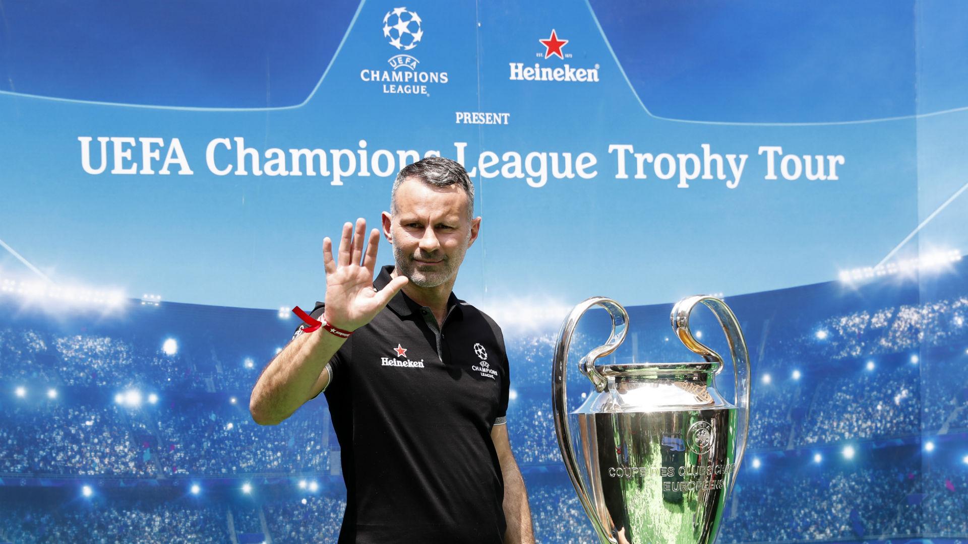 Ryan Giggs Heineken Champions League trophy tour
