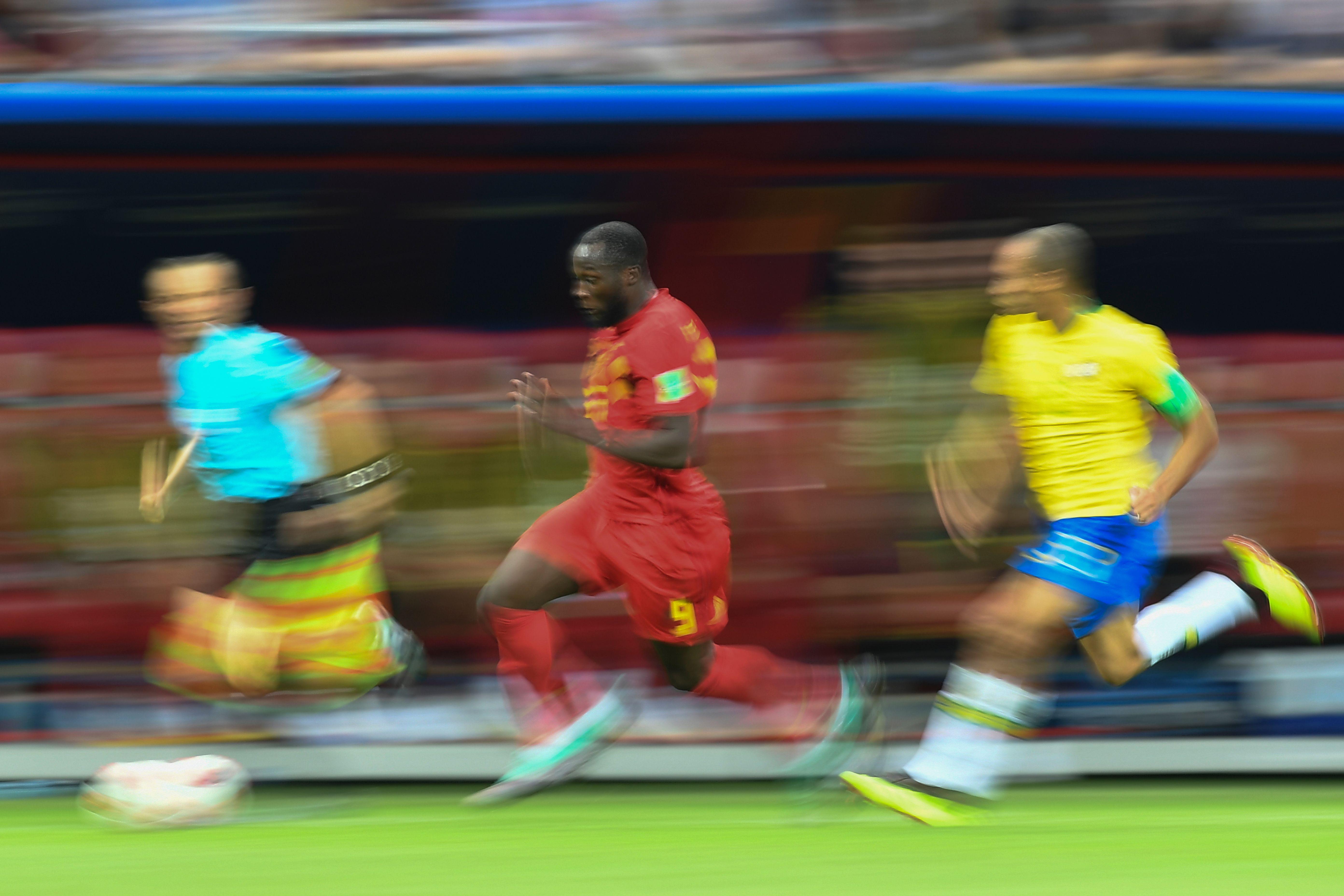 Romelu Lukaku Miranda Brazil Belgium World Cup 07/06/18