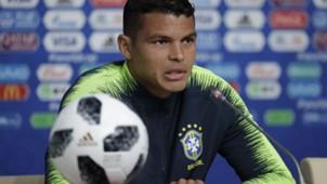 Thiago Silva Brasil coletiva Copa do Mundo 21 06 18