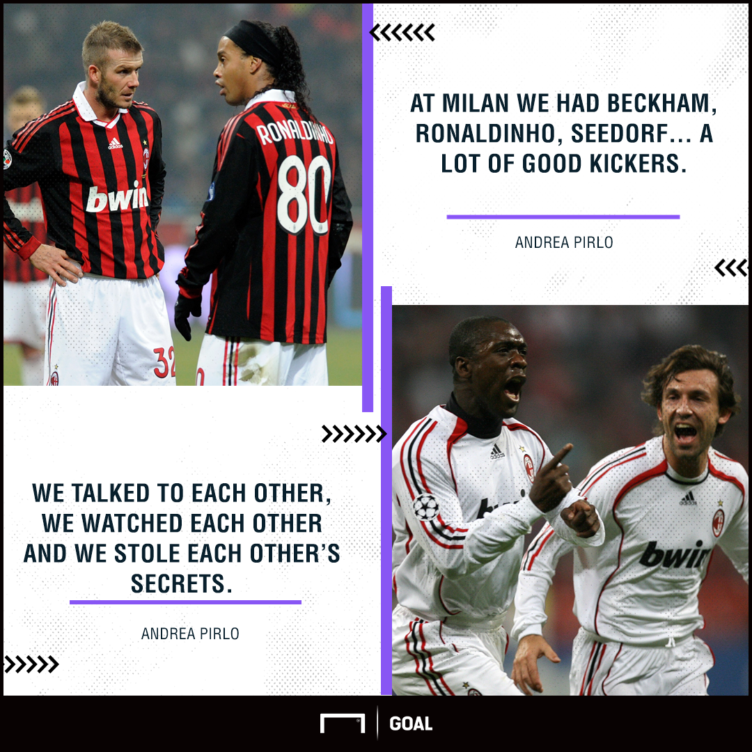 Andrea Pirlo David Beckham Ronaldinho free-kick secrets