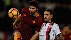 Federico Fazio Marco Borriello Roma Cagliari Serie A 22012017