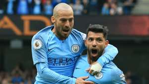 David Silva Sergio Aguero Man City 2018-19