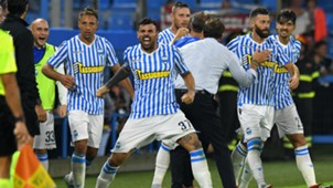 SPAL celebrating SPAL Atalanta Serie A