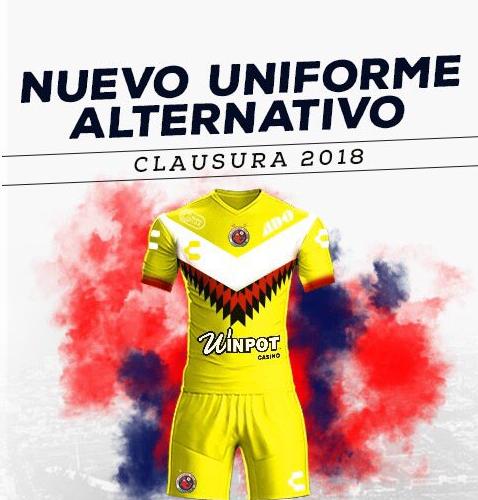 Liga mx los terceros uniformes del clausura 2018 for Cuarto uniforme del america 2018