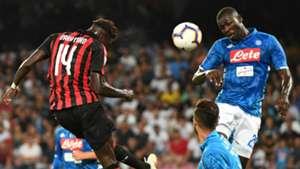 Tiemoue Bakayoko Kalidou Koulibaly Napoli Milan Serie A 08252018