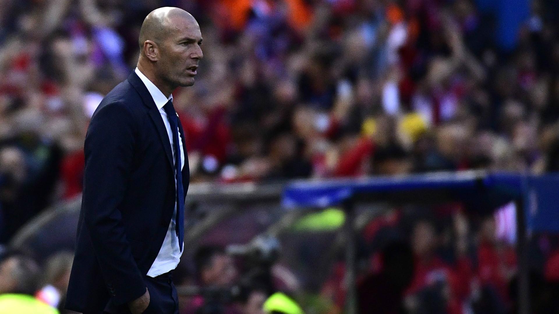 Zinedine Zidane Atletico Madrid Real Madrid UEFA Champions League