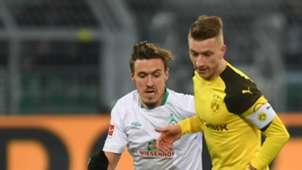 Max Kruse & Marco Reus - Borussia Dortmund v Werder Bremen : 2018