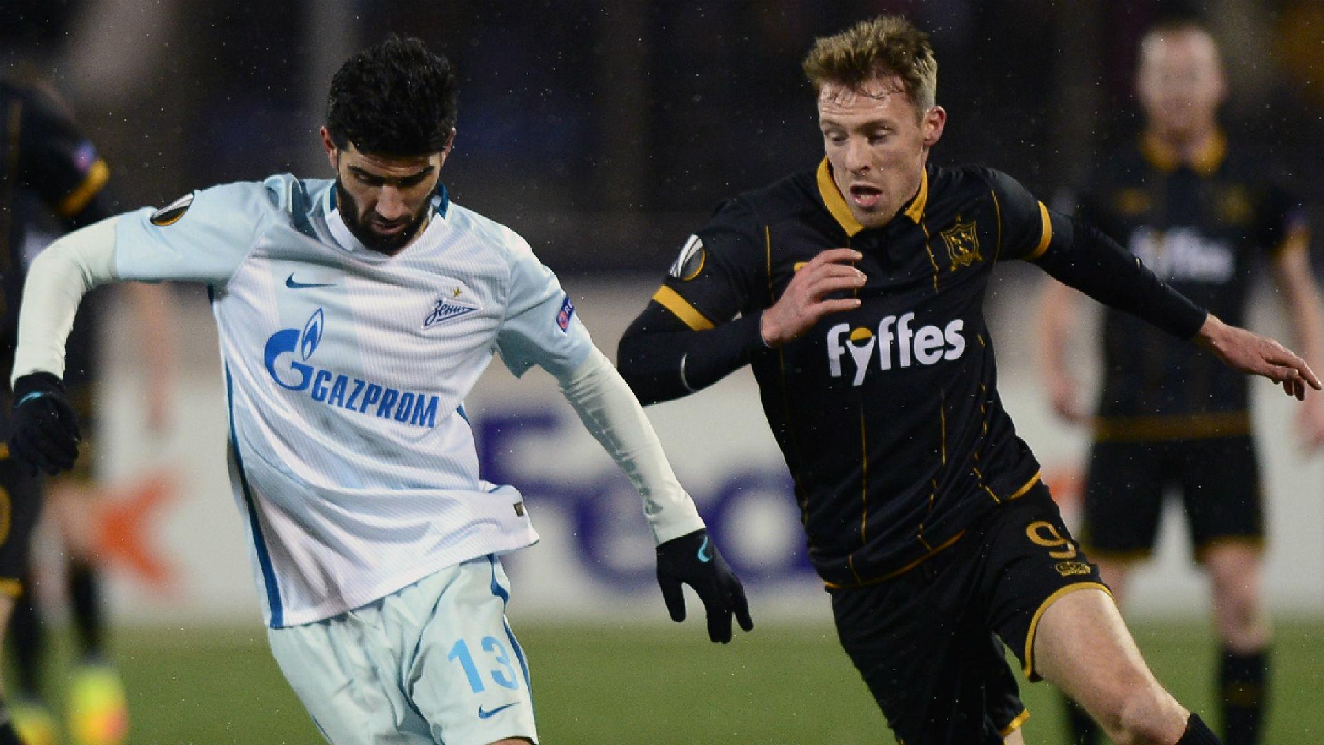 Luis Neto Zenit David McMillan Dundalk Europa League 2016