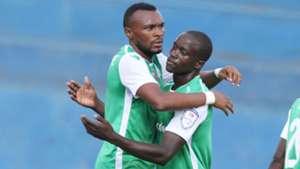Gor Mahia striker Jacques Tuyisenge celebrates v Tusker.