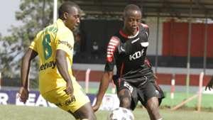 Alphonse Ndonye of Mathare v Churchil Muloma of Ulinzi Stars