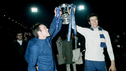 Ron Harris Peter Osgood Chelsea 1970 FA Cup champions