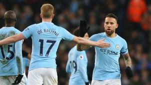 Kevin de Bruyne Nicolas Otamendi Manchester City