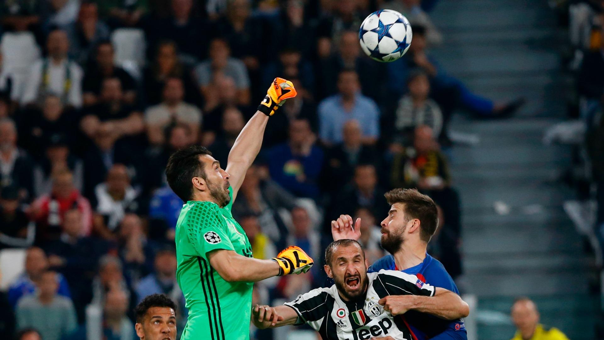 Gigi Buffon Giorgio Chiellini Juventus Barcelona