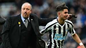 Rafa Benitez Ayoze Perez Newcastle 2018-19
