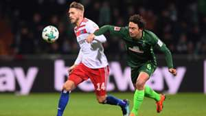 Werder Bremen Hamburger SV Thomas Delaney Aaron Hunt 24022018