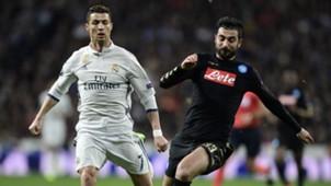 Cristiano Ronaldo Raul Albiol Real Madrid Napoli