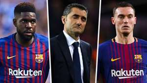 Samuel Umtiti Ernesto Valverde Thomas Vermaelen Barcelona 2018