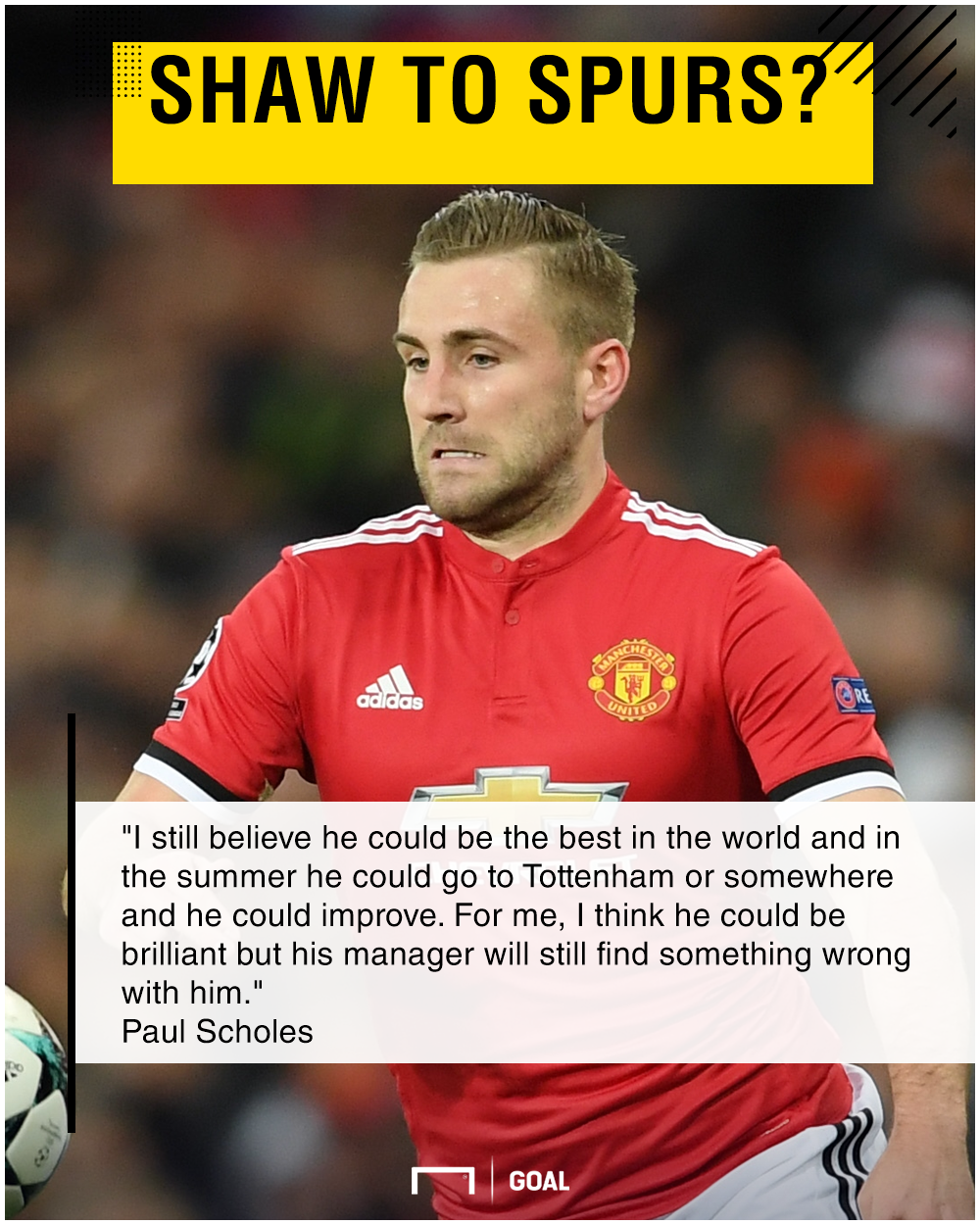 Luke Shaw world's best Paul Scholes